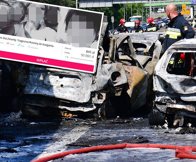 Wypadek na A6 pod Szczecinem. Rodzina ofiar poróżniona w sprawie zbiórki pieniędzy