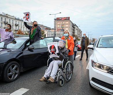 Protest przeciw wyrokowi TK w Warszawie