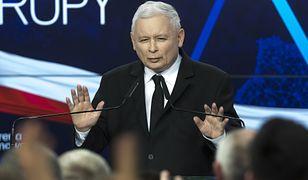 Wyniki wyborów do europarlamentu. Na zdj. prezes PiS Jarosław Kaczyński