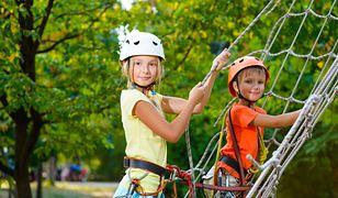Parki linowe to tylko niektóre atrakcje dla dzieci czekające na nie podczas wakacji w Polsce