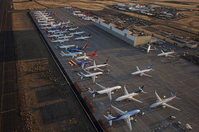 Boeingi 737 MAX oczekujące na naprawę