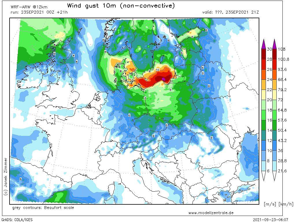 Pogoda. Potężna wichura jeszcze tej nocy uderzy w Polskę