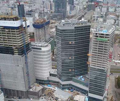 Warszawa. Skyliner coraz wyższy. Wieżowiec ma już 150 metrów
