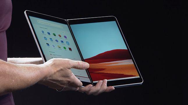 Windows 10X na Surface Neo, fot. zrzut ekranu z prezentacji Microsoftu.