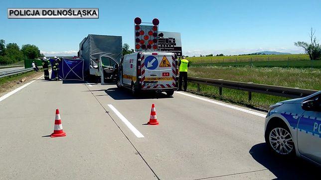 Wrocław. Śmiertelny wypadek na A4. Policja ustala szczegóły