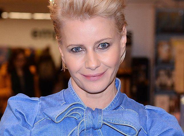 Małgorzata Kożuchowska wręczyła laptopy. Aktorka jest pod wrażeniem rozmów z dziećmi
