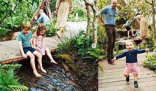 Rodzinna sielanka: bose stopy i jeansy
