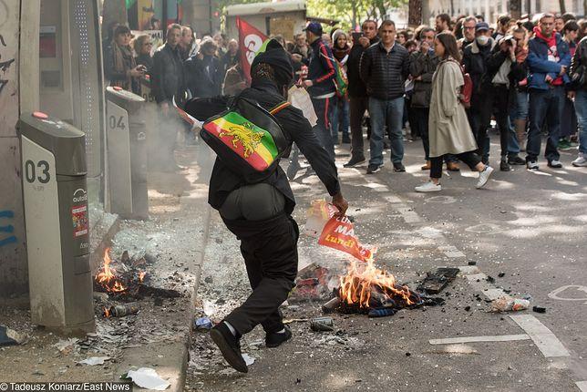 Starcia z policją w stolicy Francji