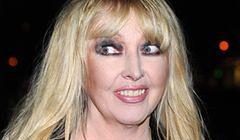 Maryla Rodowicz z maską z makijażu na twarzy