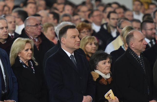 Prezydent Andrzej Duda podczas mszy św. z okazji ogłoszenia Jubileuszowego Aktu Przyjęcia Jezusa Chrystusa za Króla i Pana