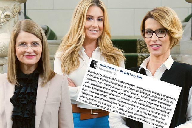 """""""Projekt Lady"""", prowadząca i mentorki - po prawej Tatiana Mindewicz-Puacz"""