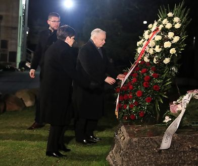 Jarosław Kaczyński złożył kwiaty na grobie ks. Jerzego Popiełuszki