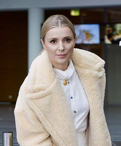 Halina Mlynkova przygotowuje się do porodu. Pokazała się w zjawiskowej sukni