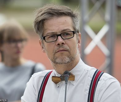 Pisarz Jacek Dehnel podczas Big Book Festival, czerwiec 2017 r.