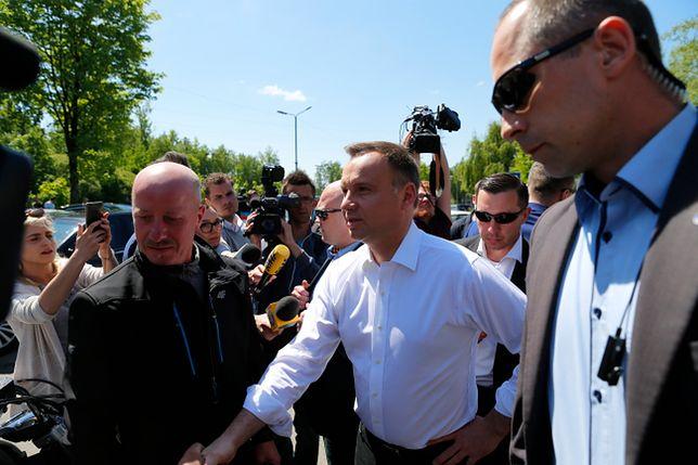 Prezydent Andrzej Duda przybył do kopalni Zofiówka