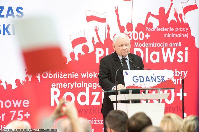 Gdańsk, konwencja wyborcza PiS przed wyborami parlamentarnymi z udziałem prezesa PiS Jarosława Kaczyńskiego