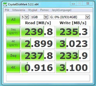 CrystalDiskMark - SkyHawk 10TB
