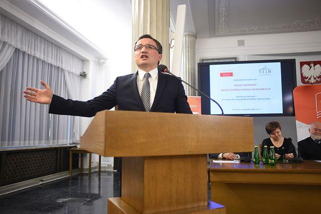 Minister Zbigniew Ziobro w Sejmie
