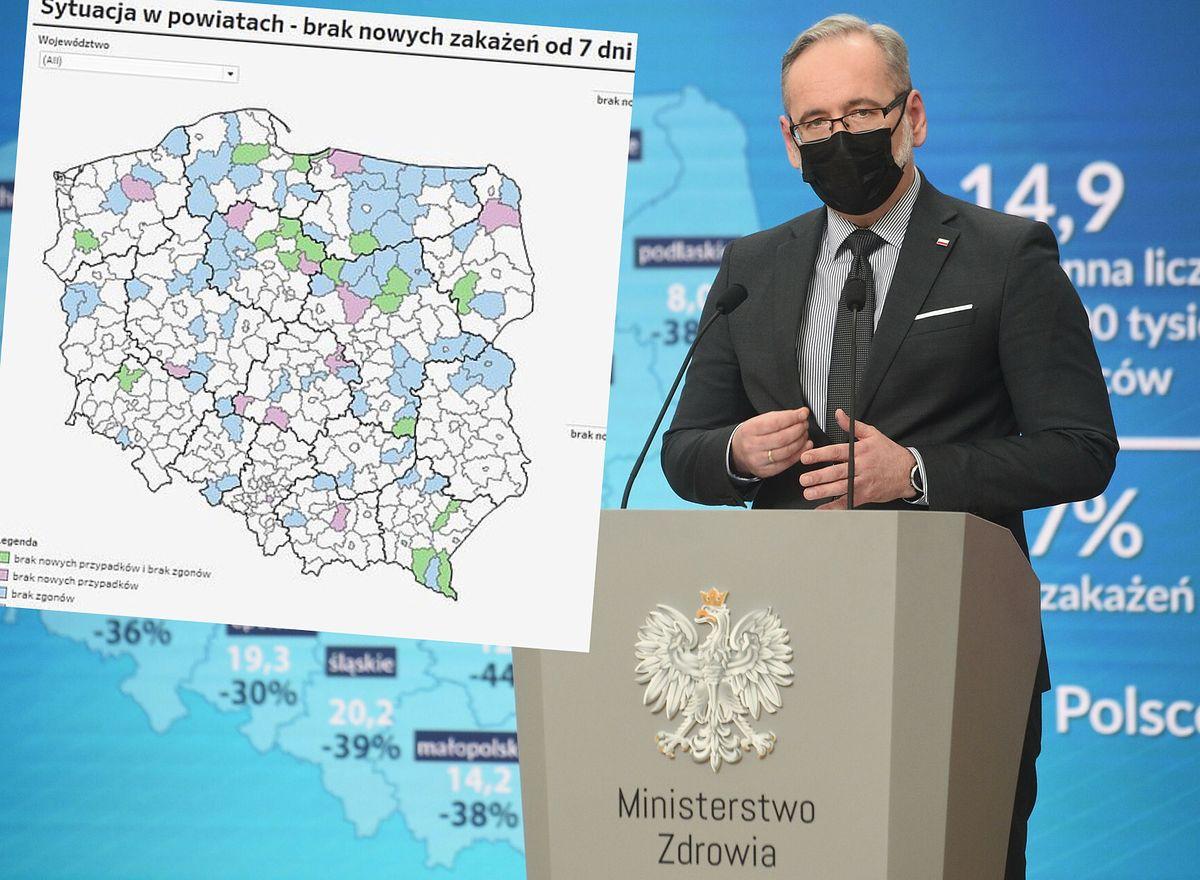 Koronawirus w Polsce. Oto regiony, gdzie od wielu dni nie było zakażeń i zgonów