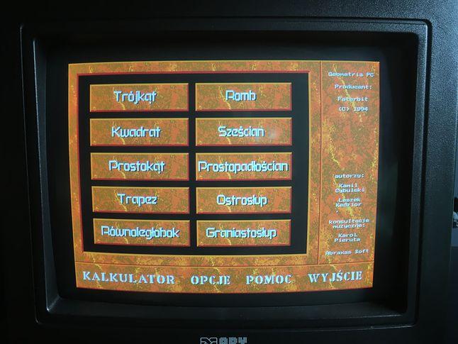 Główne menu