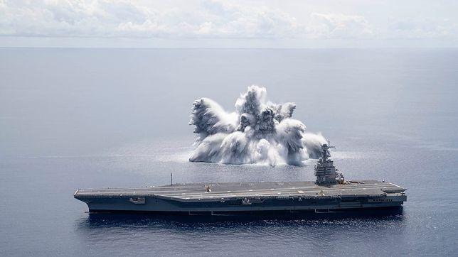 Full Ship Shock Trials - próby wytrzymałościowe lotniskowca USS Gerald R. Ford