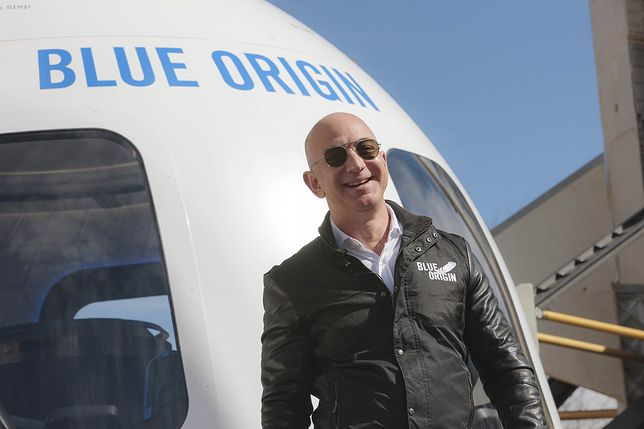 Właściciel Blue Origin, Jeff Bezos.