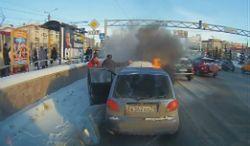 #dziejesiewmoto [263]: płonący Matiz, konfrontacja z tramwajem i piaskarka z dobrą kondycją
