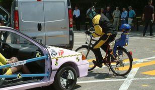 Rowerzysta nie ma szans