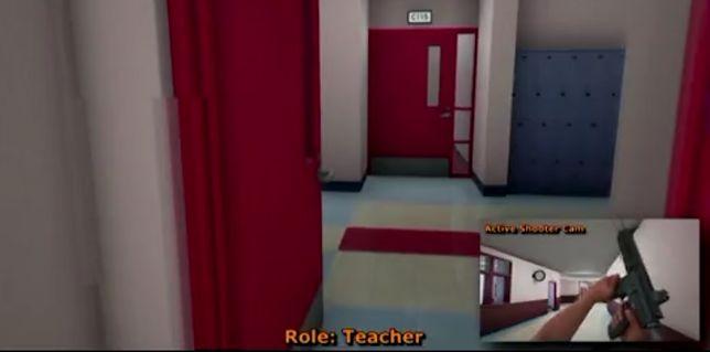 Symulator szkolnej strzelaniny.