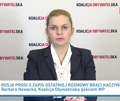 Rosja wnioskuje do Polski ws. katastrofy smoleńskiej. Reakcja Barbary Nowackiej