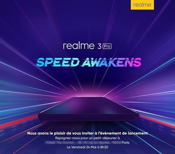 Premierę Realme 3 Pro zaplanowano na 24 maja, źródło: FrAndroid.