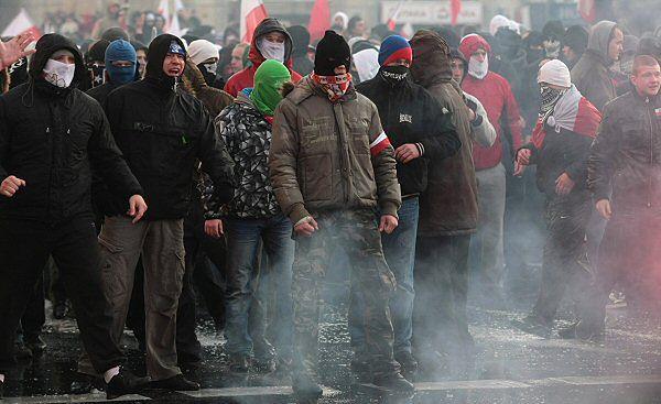 Starcia w Warszawie zakłóciły obchody Święta Niepodległości