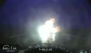 Eksplozja głównego członu rakiety Falcon Heavy. Roztrzaskał się o ocean