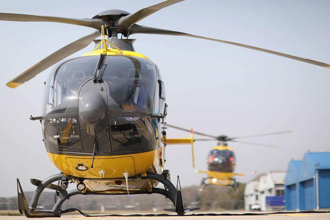 Mężczyznę przetransportowano do szpitala śmigłowcem LPR