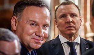 Andrzej Duda, prezydent RP oraz Jacek Kurski, członek zarządu TVP