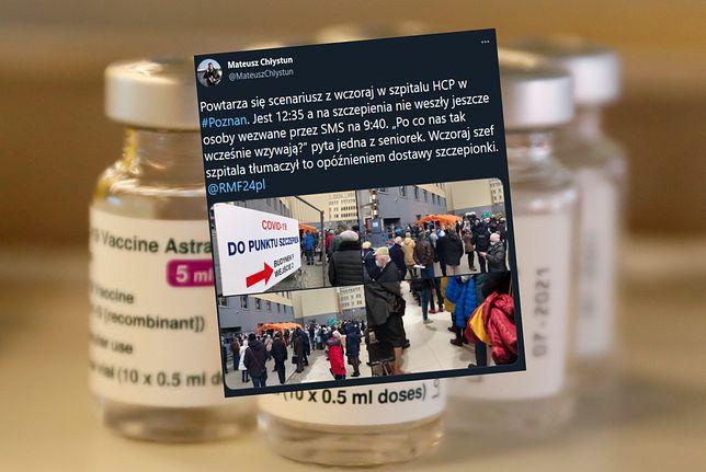 Poznań. Ciąg dalszy problemów ze szczepieniami w szpitalu HCP