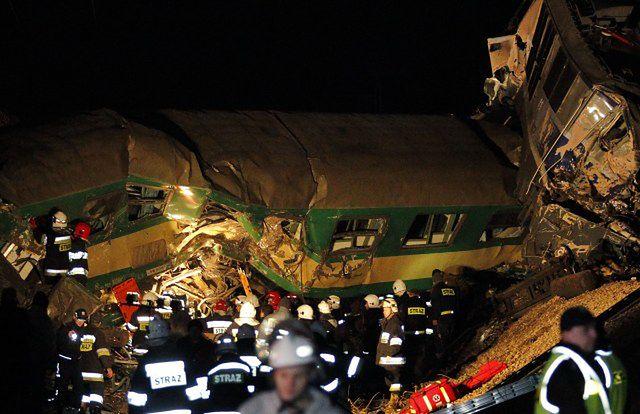 Największe katastrofy kolejowe w Polsce - zdjęcia