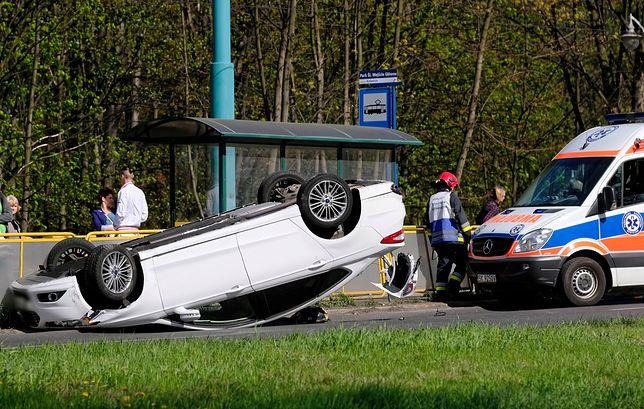 Wypadek w piątek wielkanocny w Katowicach