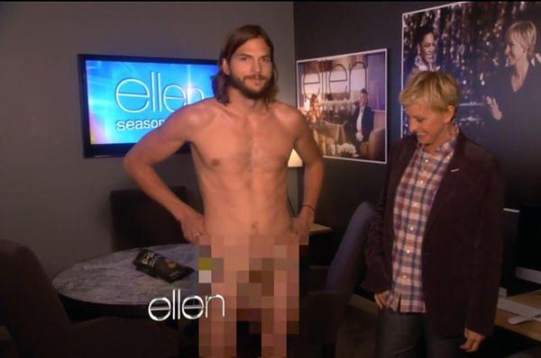 """""""The Ellen DeGeneres Show"""": Ashton Kutcher rozebrał się do naga na oczach milionów widzów!"""