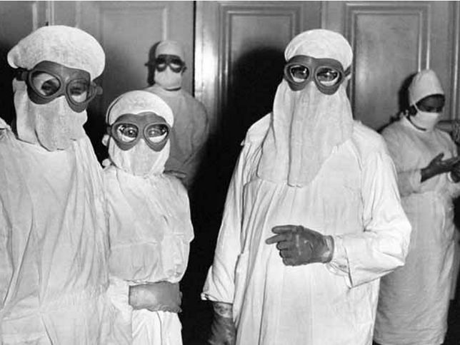 Stroje ochronne pracowników służby zdrowia podczas epidemii