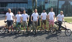 Tour de Pologne: Pokonają trasę wyścigu na składakach