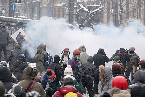 Zamieszki na ulicach Kijowa