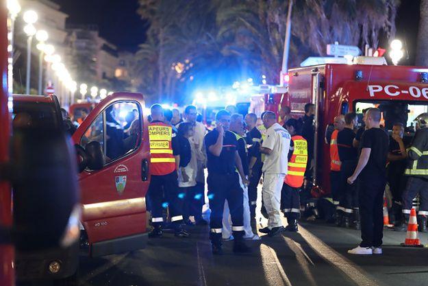 Miejsce ataku w Nicei