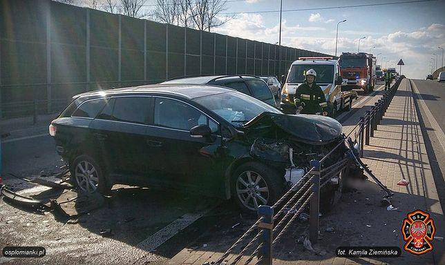 Niebezpieczny wypadek w Łomiankach