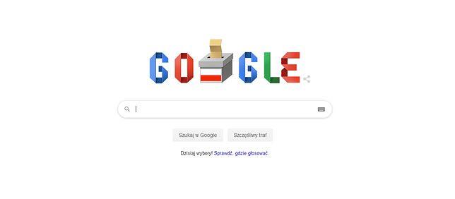 Wybory parlamentarne 2019 w Google Doodle. Logo przypomina o głosowaniu