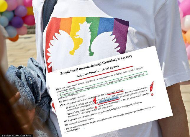 """""""Zakaz propagowania mniejszości seksualnych"""". Kontrowersyjny zapis w statucie szkoły"""
