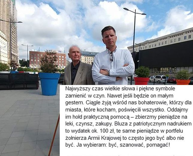 """Filip Chajzer apeluje o pomoc dla Powstańców. """"Ciągle żyją wśród nas bohaterowie"""""""