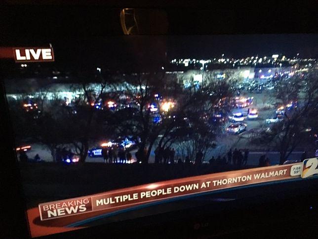 Na miejscu zdarzenia jest helikopter ratowniczy, karetki i wiele policji