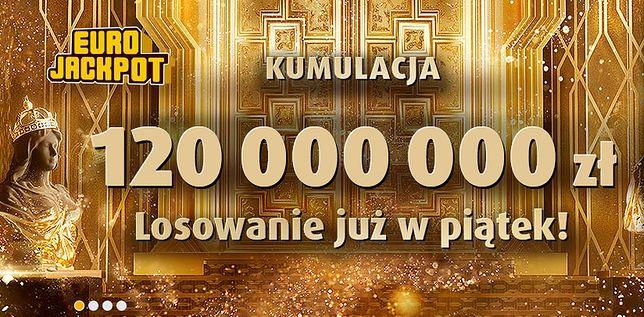 120 mln zł w najbliższym losowaniu Eurojackpot. 10 sierpnia kolejna szansa na rozbicie kumulacji