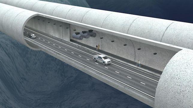 Jednym z ciekawszych elementów E39 jest pływający tunel.